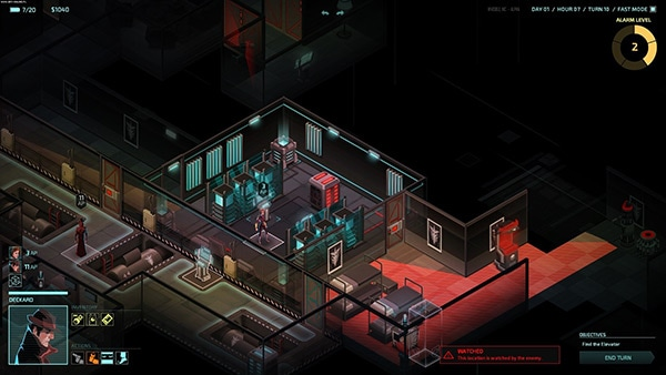 <em>Invisible Inc.</em>. Review Screenshot